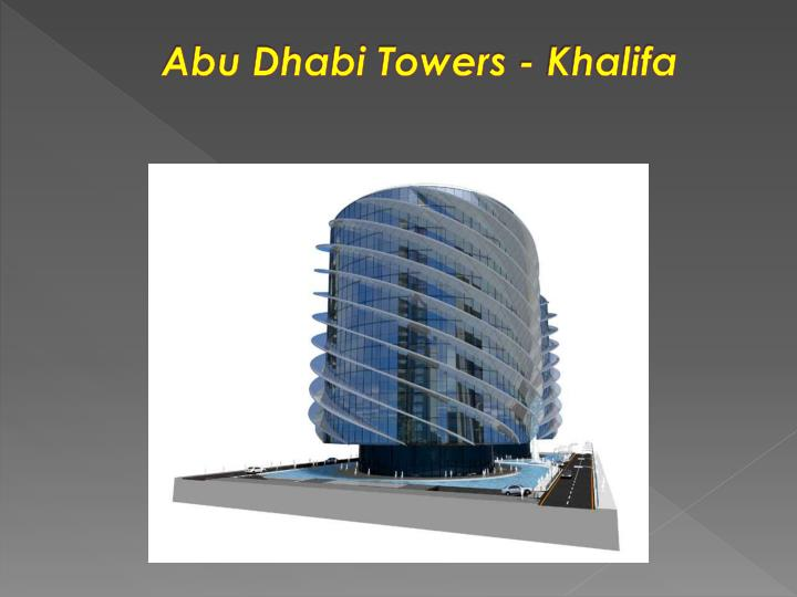 Abu Dhabi Towers -