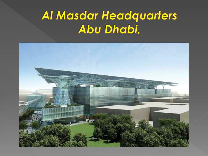 Al Masdar Headquarters