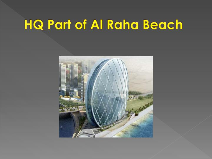Hq part of al raha beach