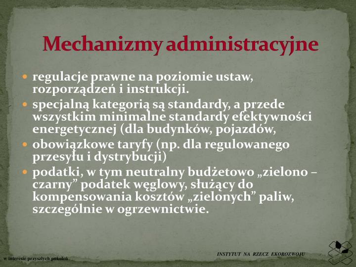 Mechanizmy administracyjne