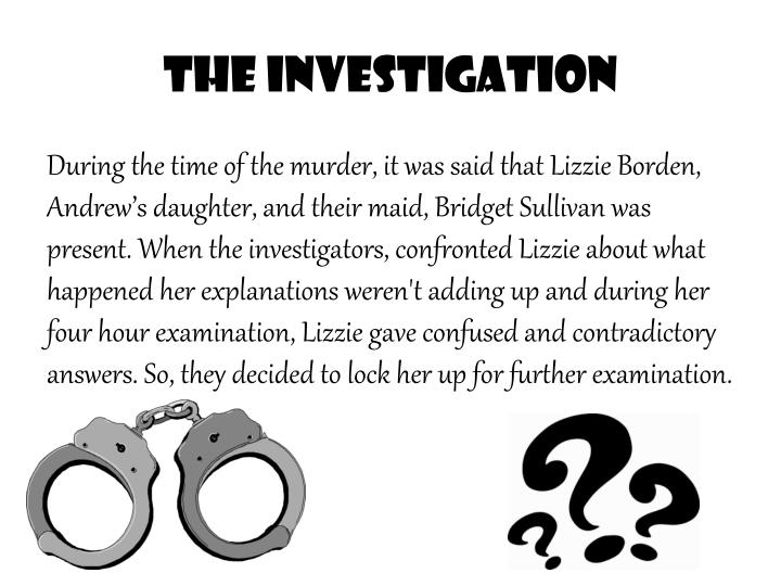 account of the lizzie borden case In the video we will be learning about the case of lizzie borden, i loved learning about this case, and it was fun i love learning about this stuff, if there is any cases that you would like me to.