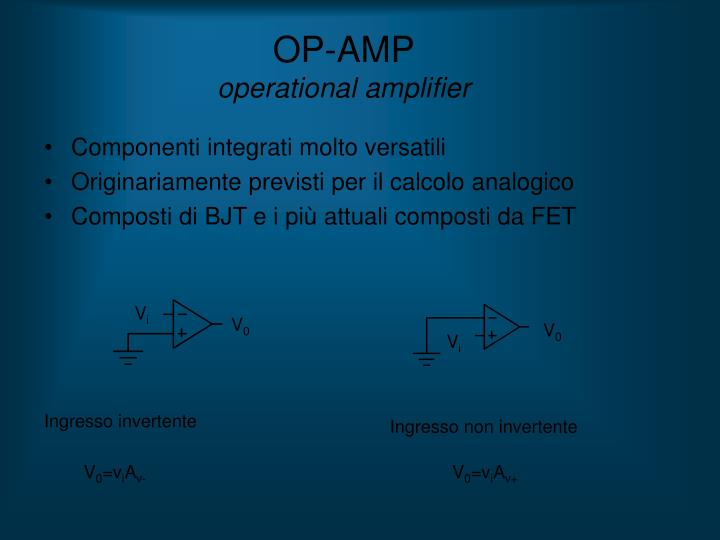 Op amp operational amplifier