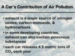 a car s contribution of air pollution1