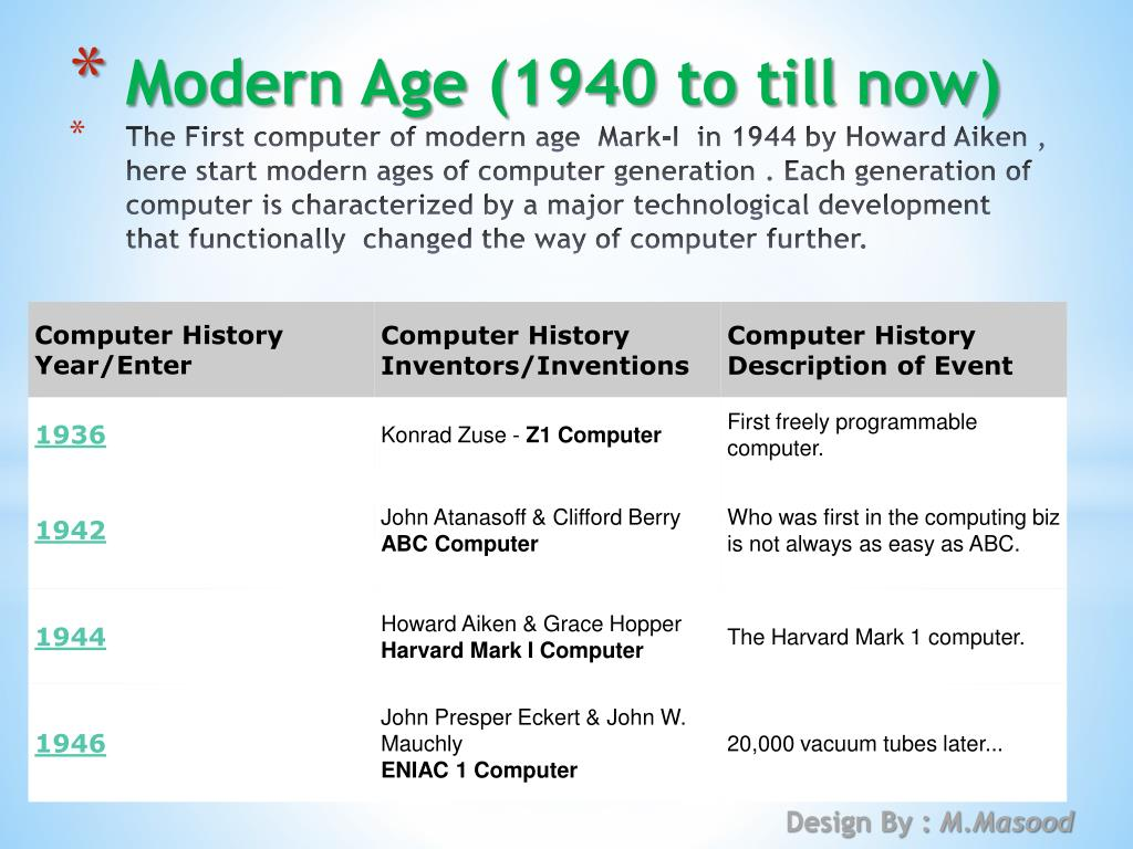 PPT - History of Computer PowerPoint Presentation - ID:4881356
