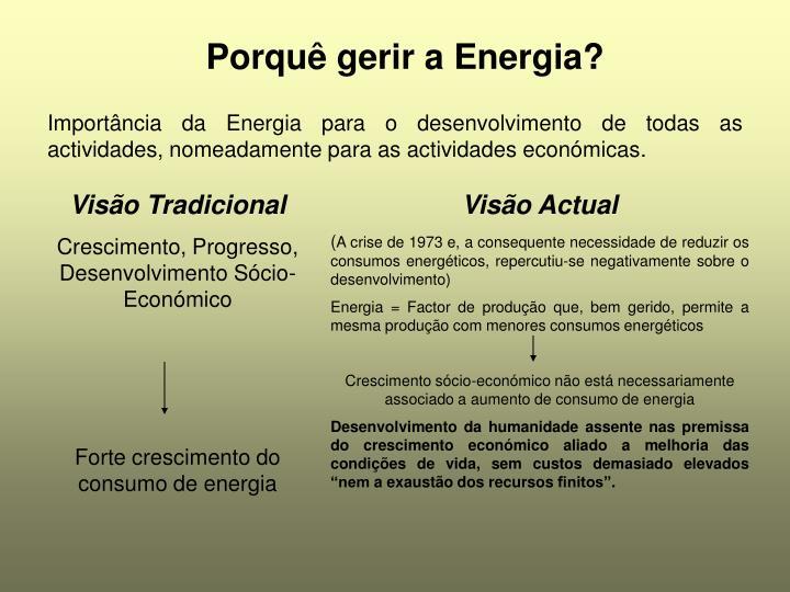Porqu gerir a energia
