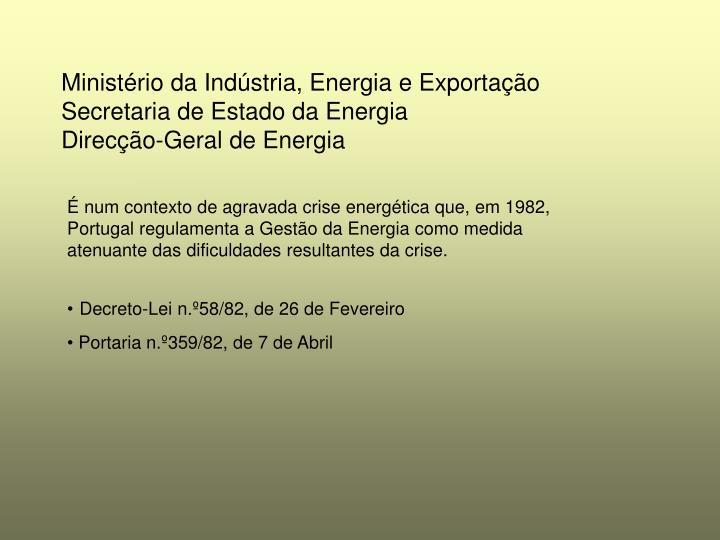 Ministério da Indústria, Energia e Exportação