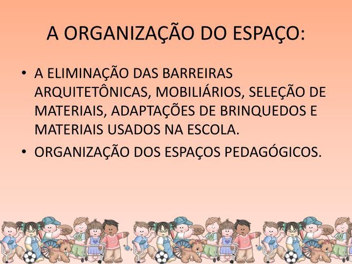 A ORGANIZAÇÃO DO ESPAÇO: