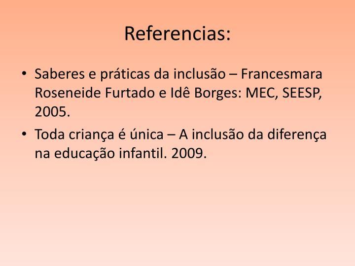 Referencias: