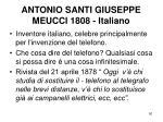 antonio santi giuseppe meucci 1808 italiano
