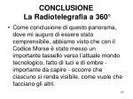 conclusione la radiotelegrafia a 360