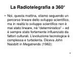 la radiotelegrafia a 3604