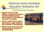 mckinney vento homeless education assistance act2