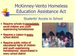 mckinney vento homeless education assistance act3