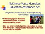 mckinney vento homeless education assistance act6