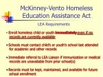 mckinney vento homeless education assistance act9
