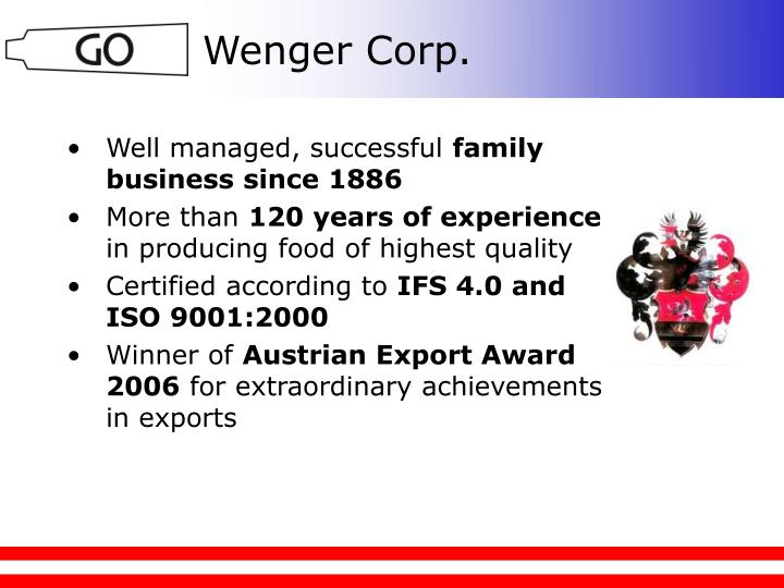 Wenger Corp.