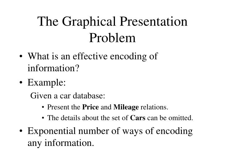 The Graphical Presentation Problem