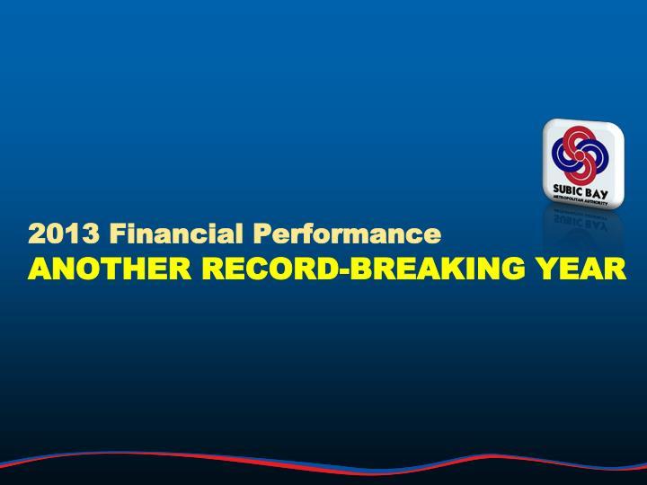 2013 Financial Performance