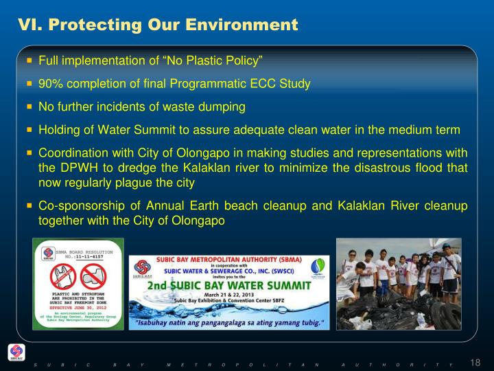 VI. Protecting Our Environment