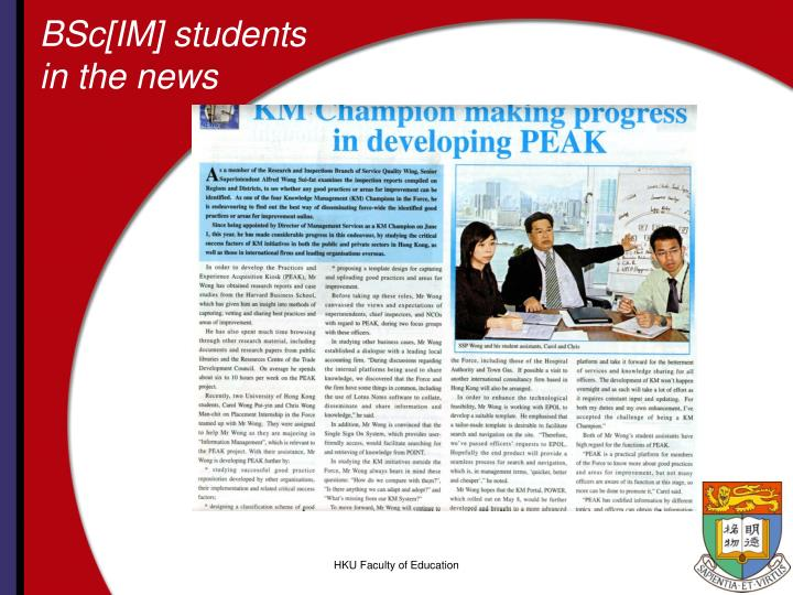 BSc[IM] students in the news