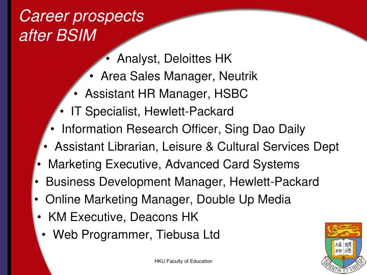 Career prospects