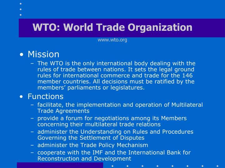 trade agreements and world trade organi Wto world trade organization tation between representatives of civil society organi- and competitiveness-driven bilateral and regional free trade agreements.