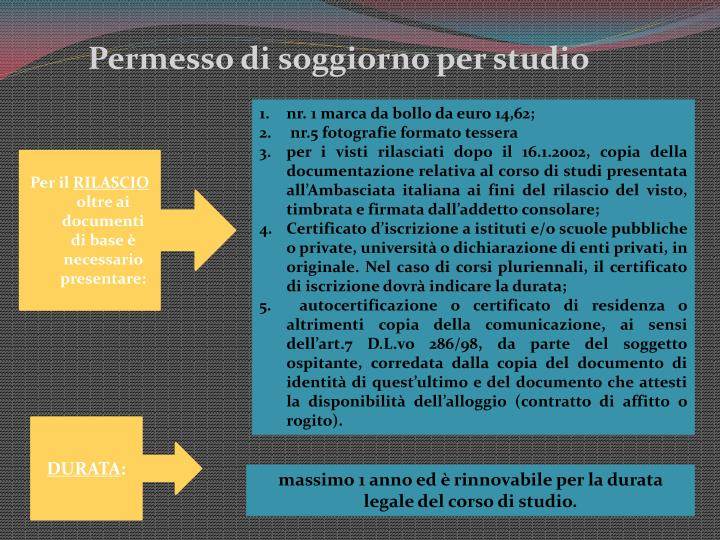 PPT - Tipologie di Permesso di Soggiorno PowerPoint ...
