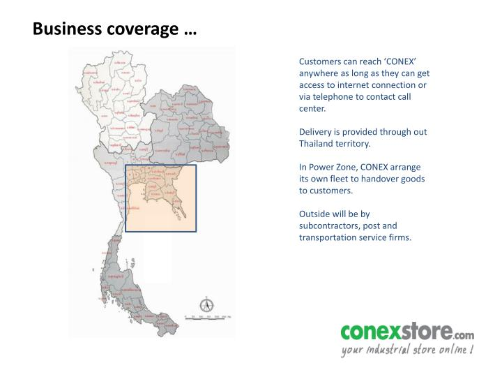 Business coverage …