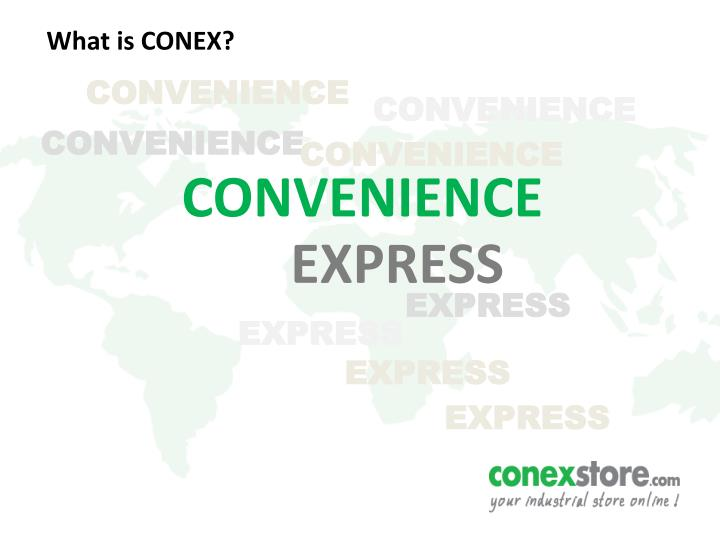 What is CONEX?