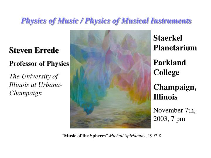 physics of music physics of musical instruments n.