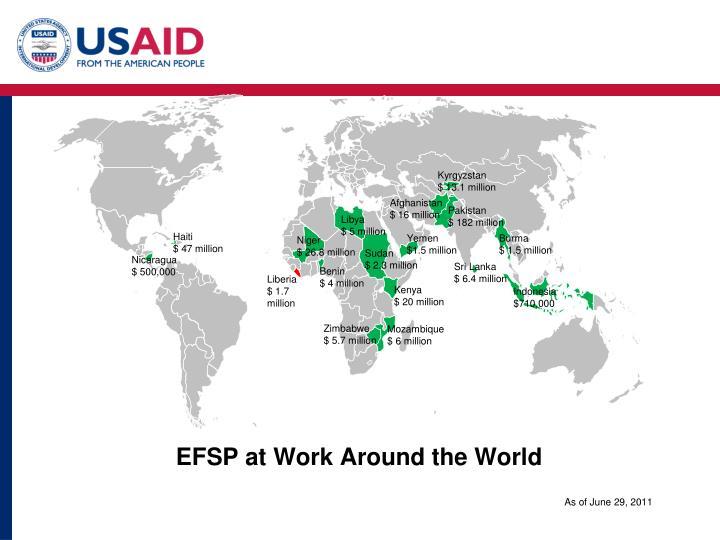 EFSP at Work Around the World