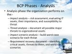 bcp phases analysis