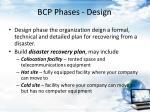 bcp phases design
