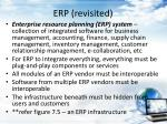 erp revisited