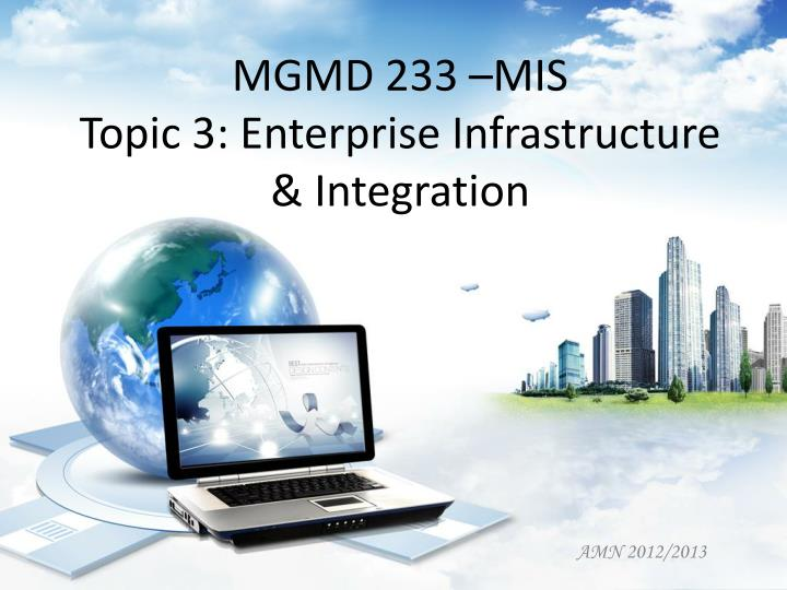 mgmd 233 mis topic 3 enterprise infrastructure integration n.