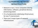 supporting network infrastructure