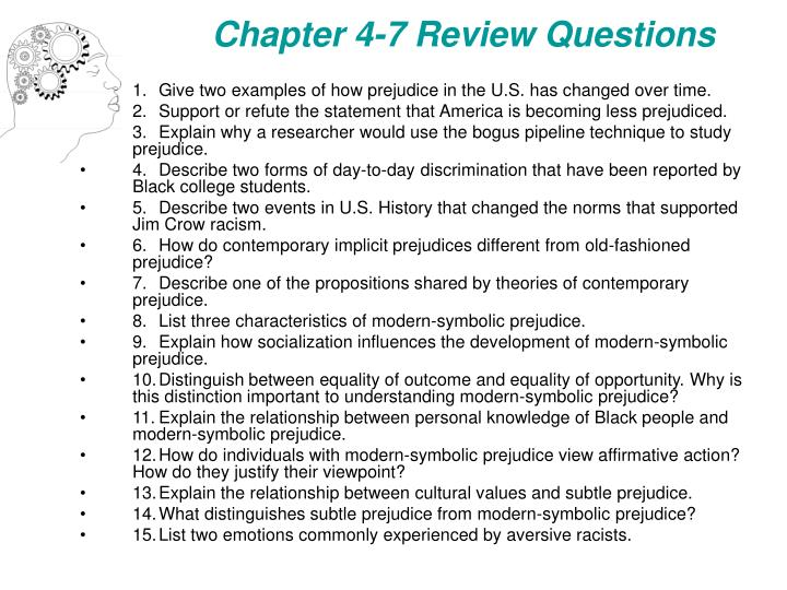 Chapter 4-7 Review Questions