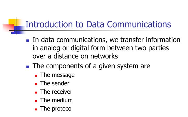 PPT - Introduction to Data Communications PowerPoint