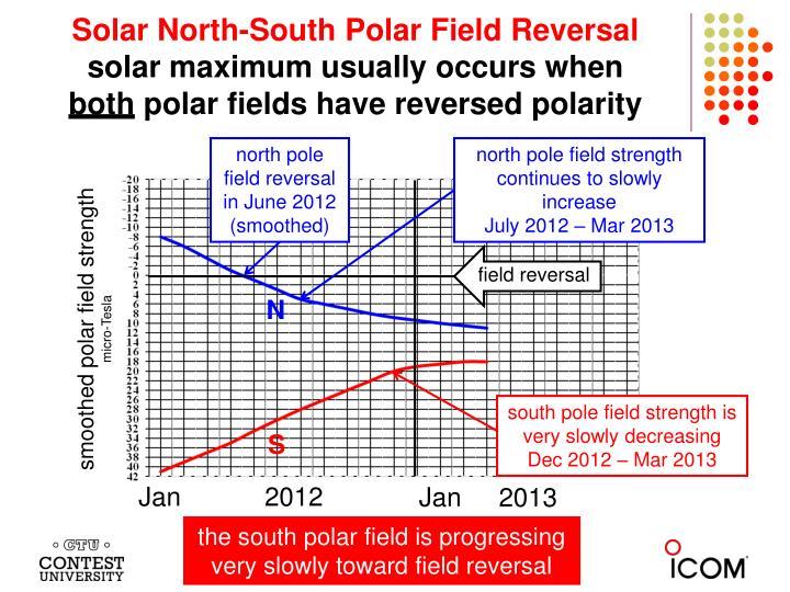 Solar North-South Polar Field Reversal