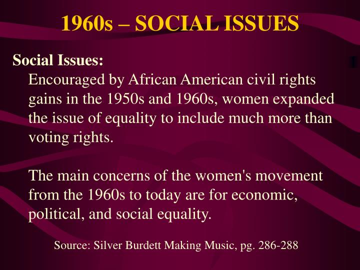 1960s – SOCIAL ISSUES