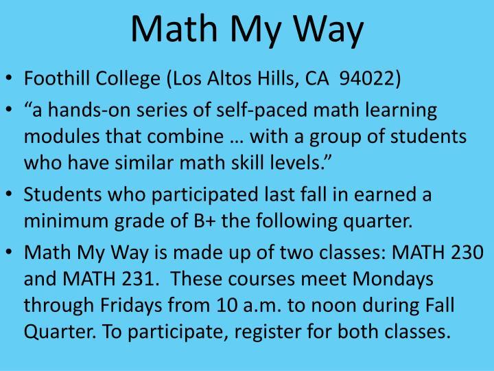 Math My Way
