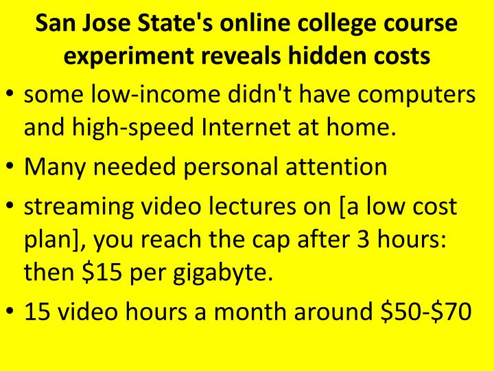 San Jose State's online college course experiment reveals hidden