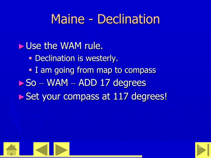 Maine - Declination