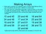 making arrays