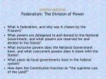 essential questions federalism the division of power