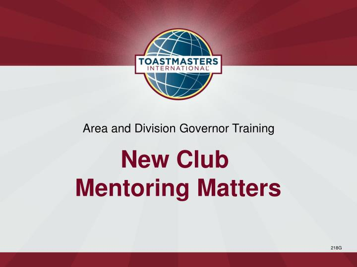 Area and Division Governor Training