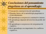 conclusiones del pensamiento piagetiano en el aprendizaje