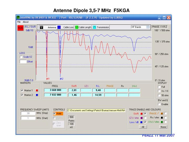 Antenne Dipole 3,5-7 MHz  F5KGA