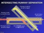 intersecting runway separation