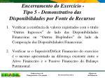 encerramento do exerc cio tipo 5 demonstrativo das disponibilidades por fonte de recursos